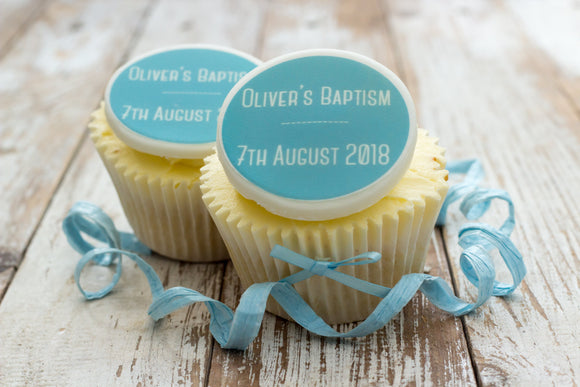 Christening and Baptism Cake Decorations