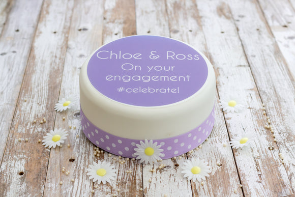 Engagement Cake Decoration