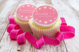 Birthday Girl Edible Cupcake Toppers
