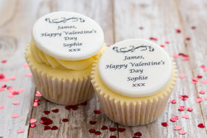 Happy Valentine's Day Cupcake Toppers