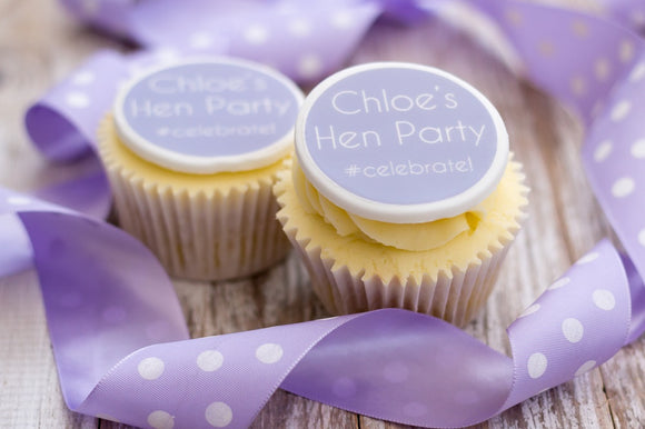 Hen Party Edible Cupcake Toppers