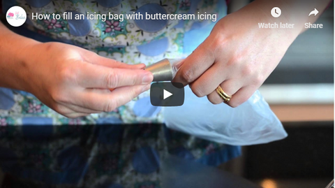 How to fill an icing bag with buttercream icing
