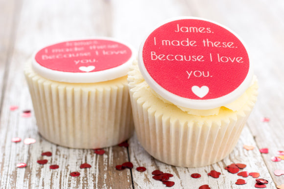 I love you cupcake toppers