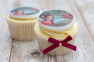 Photo Edible Cupcake Toppers