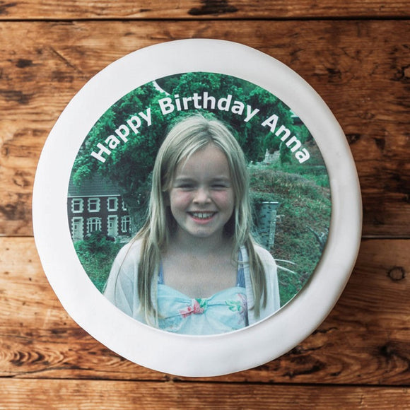 Birthday Photo Cake Topper - birthday cake decoration