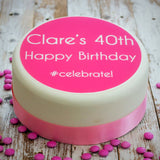 Personalised Birthday #Celebrate Cake Decoration