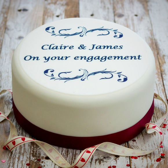 Personalised Engagement Cake Decoration
