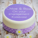 Personalised Engagement #Celebrate Cake Decoration