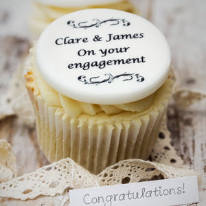 Engagement Cupcake Decorations