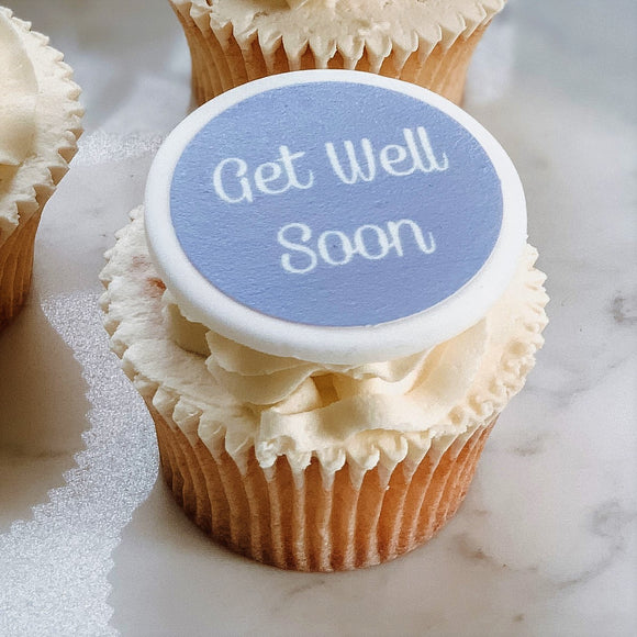 Get Well Soon Cupcake Decorations