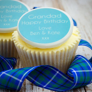 Grandad Birthday Cupcake Decorations - Cake and Cupcake Toppers - Just Bake