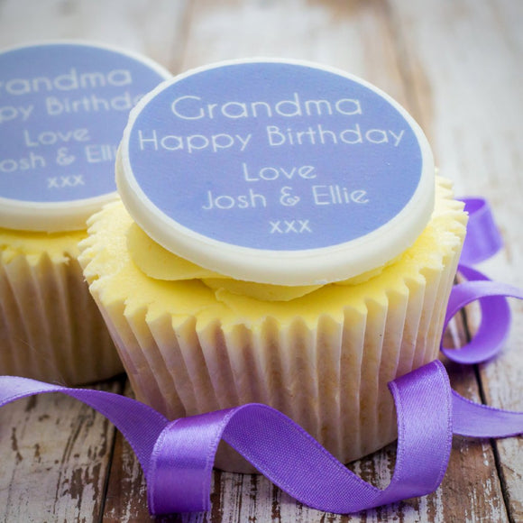 Grandma Birthday Cupcake Decorations