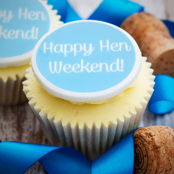 Happy Hen Weekend Cupcake Decorations