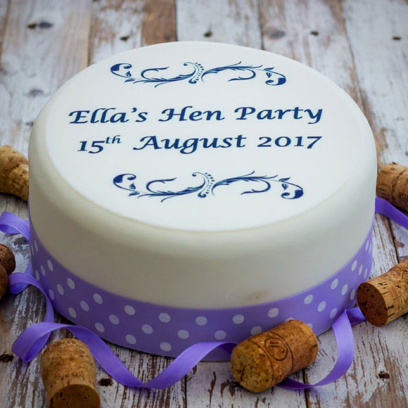 Personalised Hen Party Cake Decoration