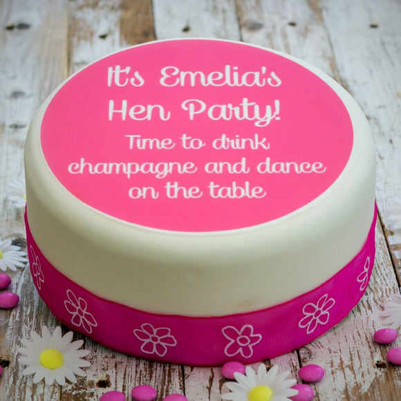 Hen Party 'Let's Drink Champagne' Cake Decoration