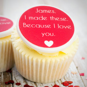 'I Love You' Cupcake Decorations