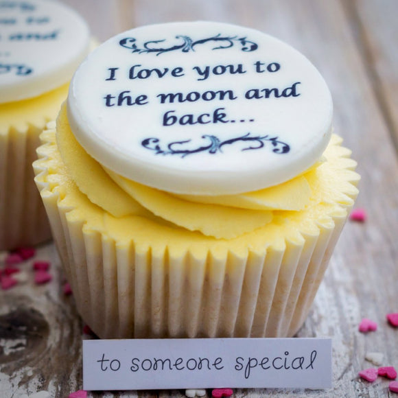 I Love You To The Moon And Back Cupcake Decorations