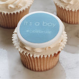 It's A Boy Cupcake Decorations