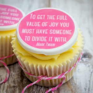 Mark Twain Quote Cupcake Decorations