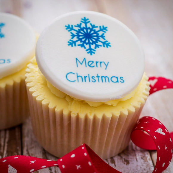 Merry Christmas Cupcake Decorations - Cake and Cupcake Toppers - Just Bake