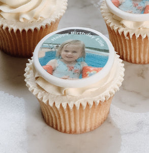 Photo Birthday Cupcake Decorations