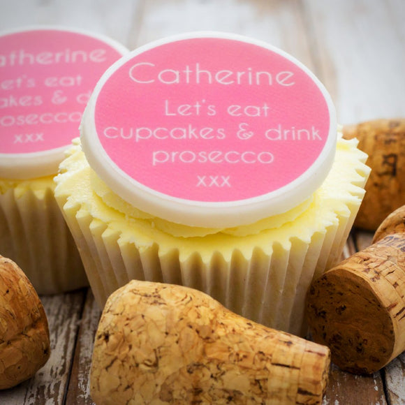 Prosecco Cupcake Decorations
