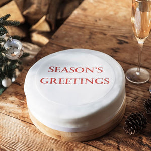 Season's Greetings Cake Topper