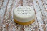 Personalised Wedding 'Just Married' Cake Decoration