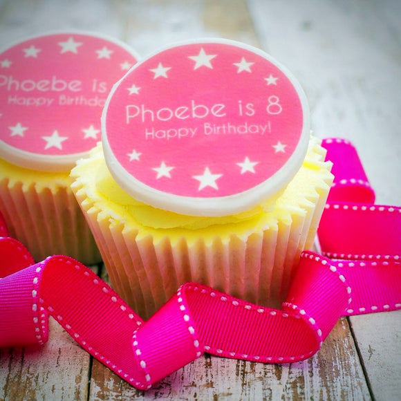 Birthday Girl Cupcake Decorations