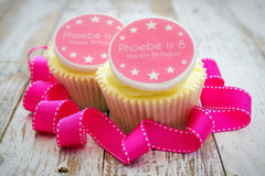 Girl's Birthday Cupcake Toppers