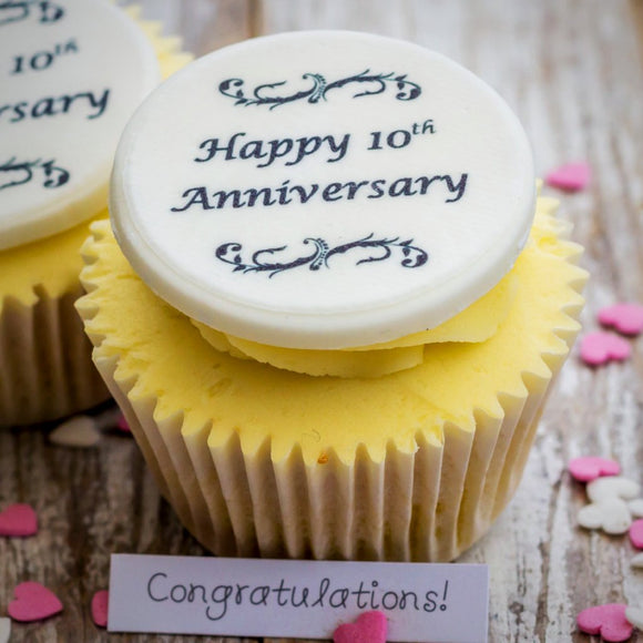 Anniversary Cupcake Decorations