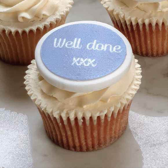 Well Done Cupcake Decorations