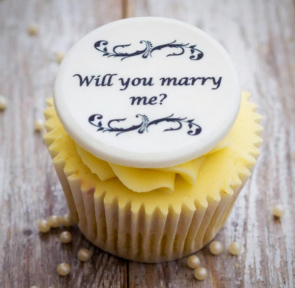 Will You Marry Me? Cupcake Toppers - Cake and Cupcake Toppers - Just Bake