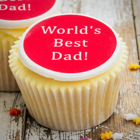 World's Best Dad Cupcake Decorations