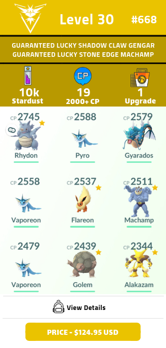 #669 Level 30 | GUARANTEED LUCKY SHADOW CLAW GENGAR AND GUARANTEED LUCKY STONE EDGE MACHAMP | Legacy Move | Upgraded