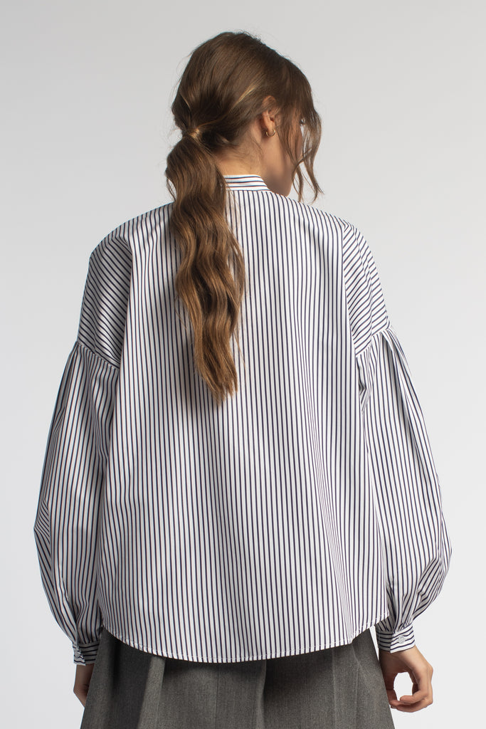 Striped Oversized Tunic Shirt