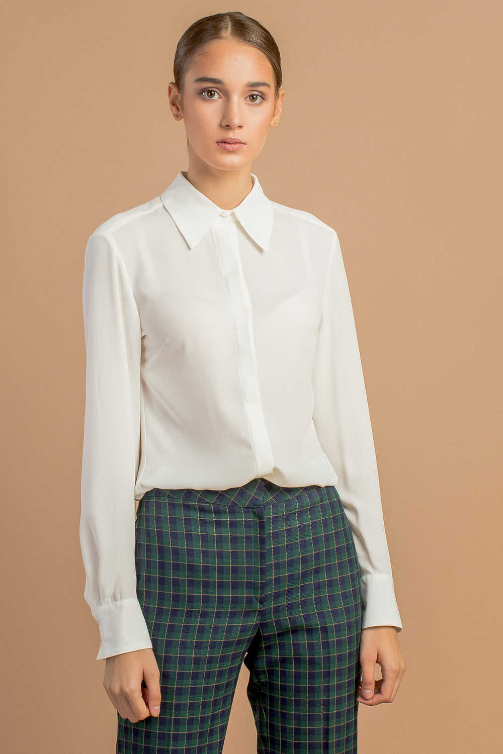 Off White Chiffon Blouse
