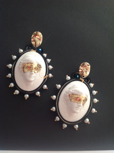 Aphrodite Bold Cameo Earrings - Beads Of Aquarius