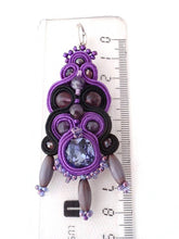 ultra violet chandelier earrings - IZMIR - Beads Of Aquarius