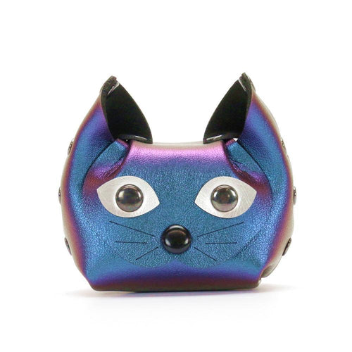 Peacock blue cat coin purse