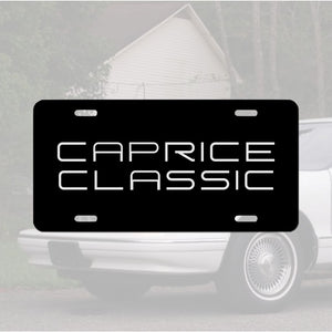 Caprice Classic Custom License Plate