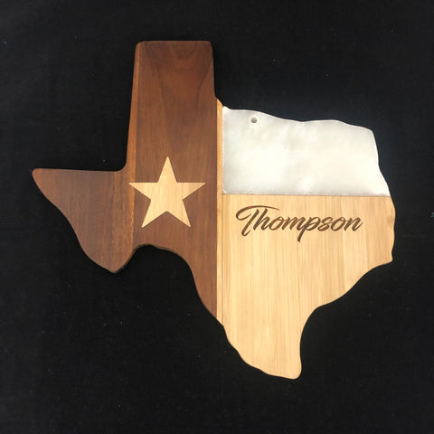 Texas Bamboo and Stone Cutting Board