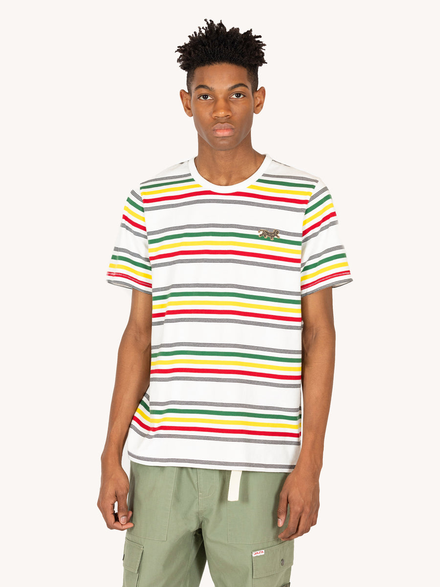Rasta Striped T Shirt