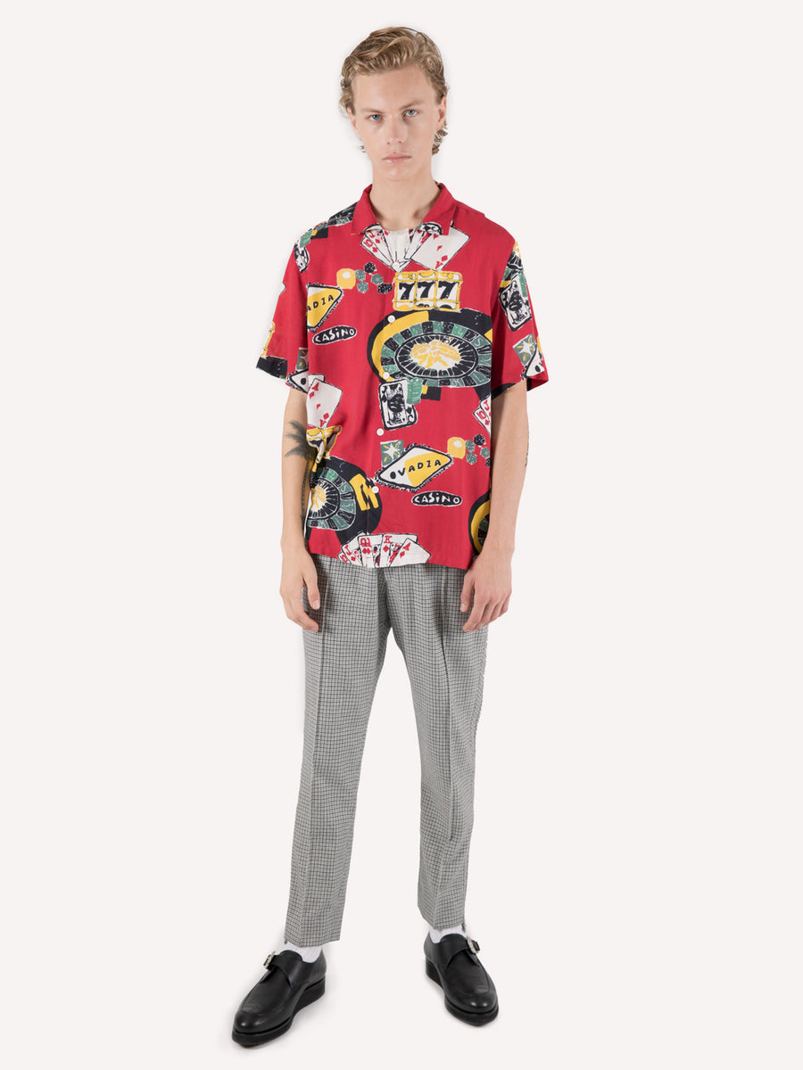 Casino Print Beach Shirt