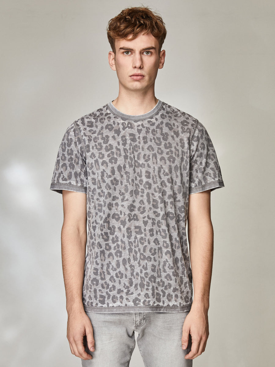 Snow Leopard Burnout T Shirt