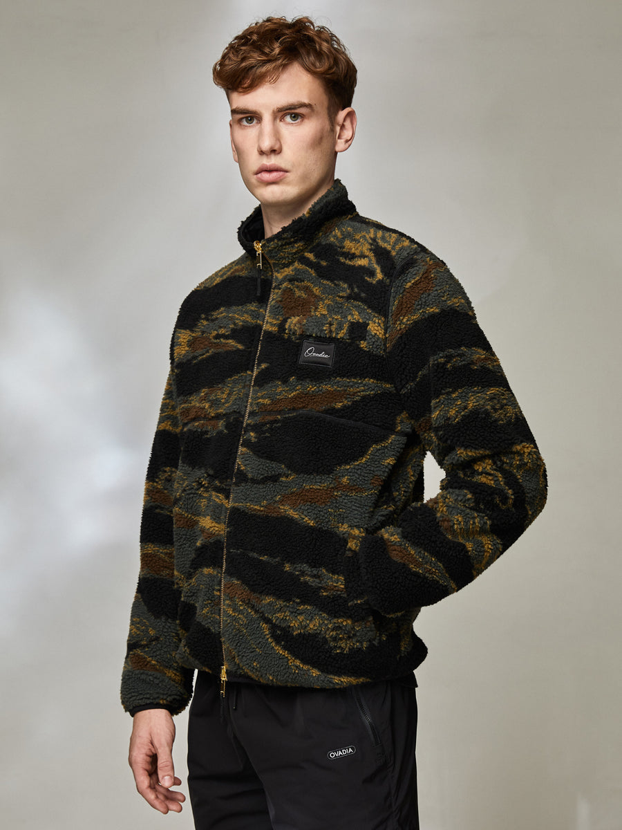 Camo Reversible Sherpa Jacket