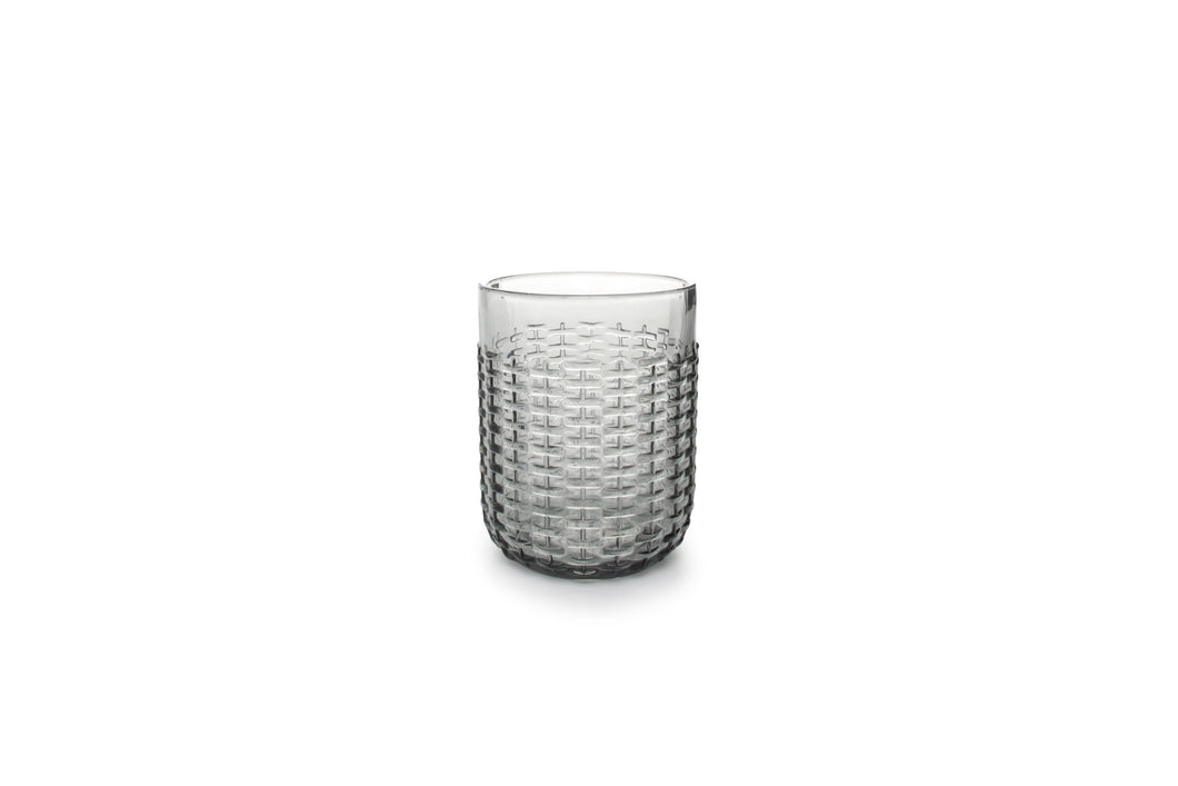 Salt & Pepper Glas Carbo 41cl Smoked Grey- set van 4 - [oosterlinck]