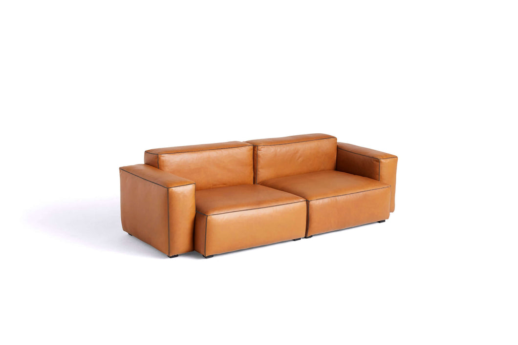Hay Mags Soft Low 2,5 zit sofa combinatie 1 - Silk cognac leder - [oosterlinck]