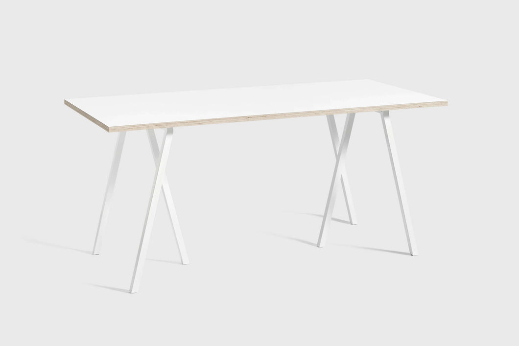 Loop table white 160cm