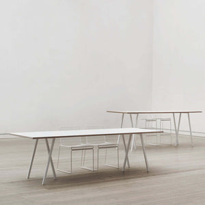 Loop table white 160 cm